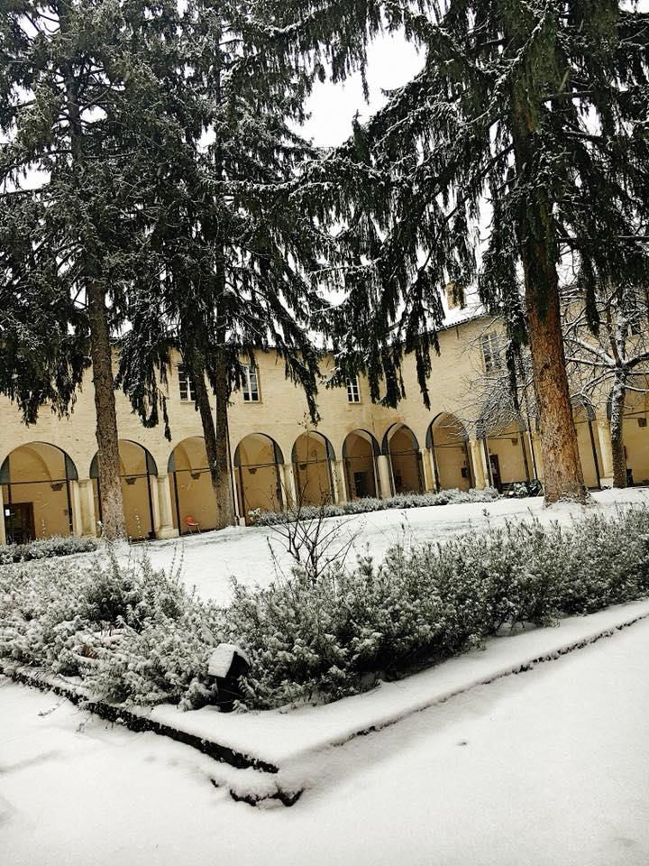 Borgo del Teatro - Il Chiostro innevato