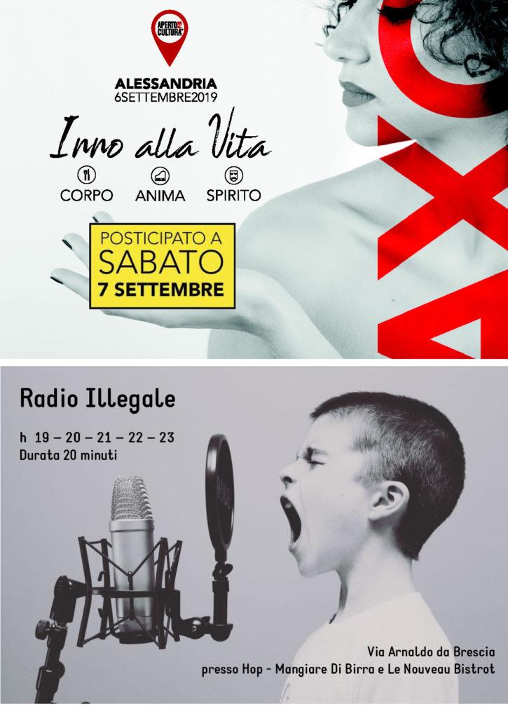 Radio Illegale – 7 settembre 2019. Aperto per Cultura