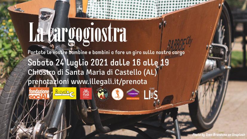 La cargogiostra – 24 luglio 2021. Progetto riusa e pedala