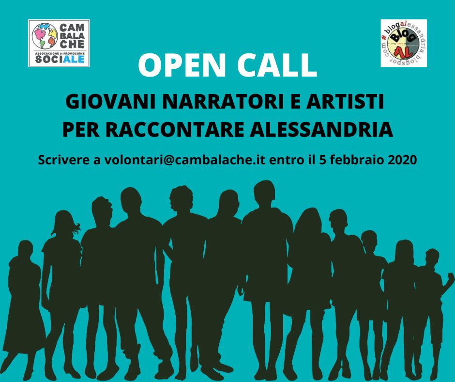 OPEN CALL giovani artisti e narratori per raccontare Alessandria